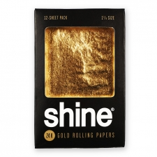 Shine 24k Gold Rolling Papers - 12 sheet - 1 1/4